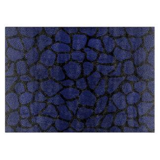 SKIN1 BLACK MARBLE & BLUE LEATHER CUTTING BOARD