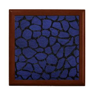 SKIN1 BLACK MARBLE & BLUE LEATHER GIFT BOX