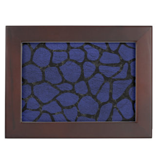 SKIN1 BLACK MARBLE & BLUE LEATHER KEEPSAKE BOX