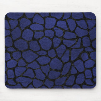 SKIN1 BLACK MARBLE & BLUE LEATHER MOUSE PAD