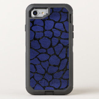 SKIN1 BLACK MARBLE & BLUE LEATHER OtterBox DEFENDER iPhone 8/7 CASE