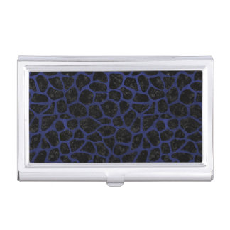 SKIN1 BLACK MARBLE & BLUE LEATHER (R) BUSINESS CARD HOLDER