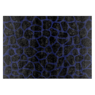SKIN1 BLACK MARBLE & BLUE LEATHER (R) CUTTING BOARD