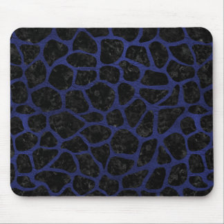 SKIN1 BLACK MARBLE & BLUE LEATHER (R) MOUSE PAD