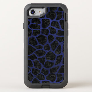 SKIN1 BLACK MARBLE & BLUE LEATHER (R) OtterBox DEFENDER iPhone 8/7 CASE