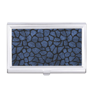 SKIN1 BLACK MARBLE & BLUE STONE BUSINESS CARD HOLDER