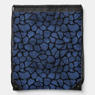 SKIN1 BLACK MARBLE & BLUE STONE DRAWSTRING BAG