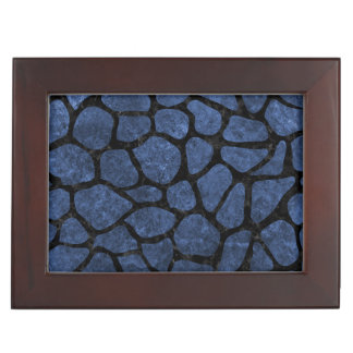 SKIN1 BLACK MARBLE & BLUE STONE KEEPSAKE BOX