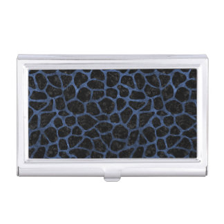 SKIN1 BLACK MARBLE & BLUE STONE (R) BUSINESS CARD HOLDER