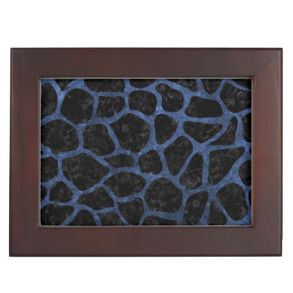 SKIN1 BLACK MARBLE & BLUE STONE (R) KEEPSAKE BOX