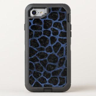 SKIN1 BLACK MARBLE & BLUE STONE (R) OtterBox DEFENDER iPhone 8/7 CASE