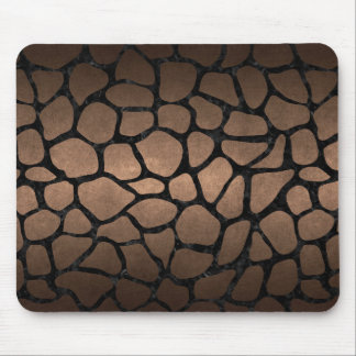 SKIN1 BLACK MARBLE & BRONZE METAL MOUSE PAD