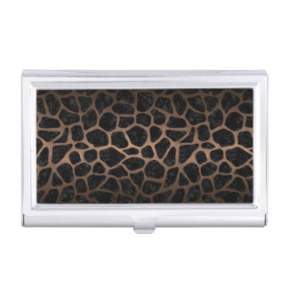 SKIN1 BLACK MARBLE & BRONZE METAL (R) BUSINESS CARD HOLDER