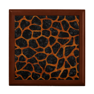 SKIN1 BLACK MARBLE & BROWN MARBLE (R) LARGE SQUARE GIFT BOX