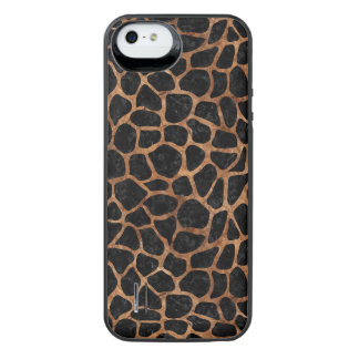 SKIN1 BLACK MARBLE & BROWN STONE (R) iPhone SE/5/5s BATTERY CASE