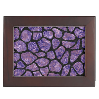 SKIN1 BLACK MARBLE & PURPLE MARBLE KEEPSAKE BOX