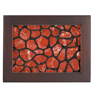 SKIN1 BLACK MARBLE & RED MARBLE KEEPSAKE BOX