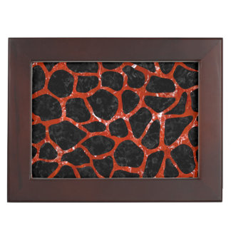 SKIN1 BLACK MARBLE & RED MARBLE (R) KEEPSAKE BOX