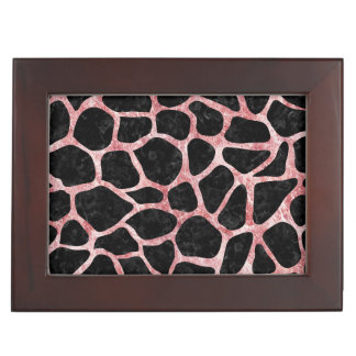 SKIN1 BLACK MARBLE & RED & WHITE MARBLE (R) KEEPSAKE BOX