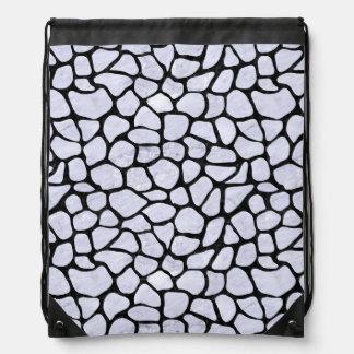 SKIN1 BLACK MARBLE & WHITE MARBLE DRAWSTRING BAG