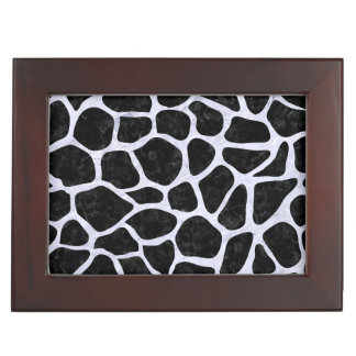SKIN1 BLACK MARBLE & WHITE MARBLE (R) KEEPSAKE BOX