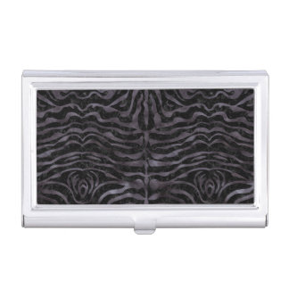 SKIN2 BLACK MARBLE & BLACK WATERCOLOR BUSINESS CARD HOLDER