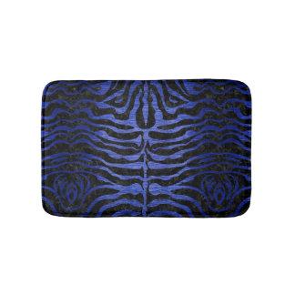 SKIN2 BLACK MARBLE & BLUE BRUSHED METAL BATH MAT
