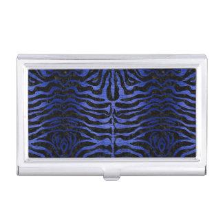 SKIN2 BLACK MARBLE & BLUE BRUSHED METAL BUSINESS CARD HOLDER