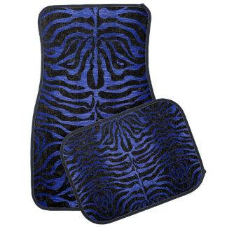 SKIN2 BLACK MARBLE & BLUE BRUSHED METAL CAR MAT