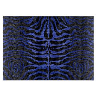 SKIN2 BLACK MARBLE & BLUE BRUSHED METAL CUTTING BOARD
