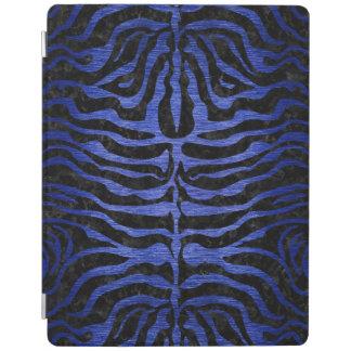 SKIN2 BLACK MARBLE & BLUE BRUSHED METAL iPad COVER