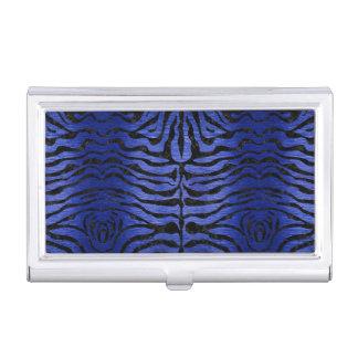 SKIN2 BLACK MARBLE & BLUE BRUSHED METAL (R) BUSINESS CARD HOLDER