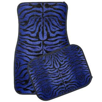 SKIN2 BLACK MARBLE & BLUE BRUSHED METAL (R) CAR MAT