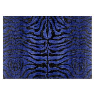 SKIN2 BLACK MARBLE & BLUE BRUSHED METAL (R) CUTTING BOARD