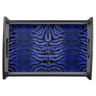 SKIN2 BLACK MARBLE & BLUE BRUSHED METAL (R) SERVING TRAY