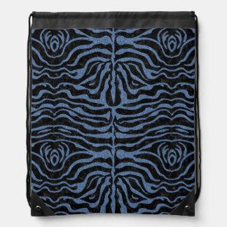 SKIN2 BLACK MARBLE & BLUE DENIM DRAWSTRING BAG