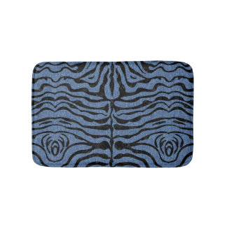 SKIN2 BLACK MARBLE & BLUE DENIM (R) BATH MAT