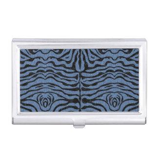 SKIN2 BLACK MARBLE & BLUE DENIM (R) BUSINESS CARD HOLDER