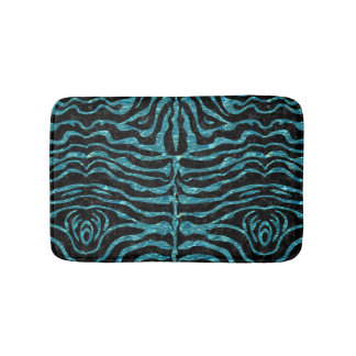SKIN2 BLACK MARBLE & BLUE-GREEN WATER BATH MAT