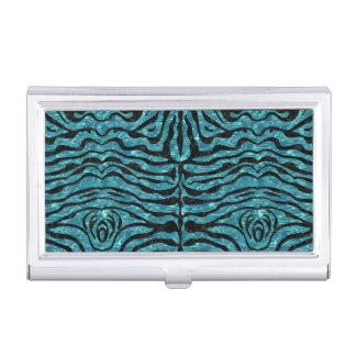 SKIN2 BLACK MARBLE & BLUE-GREEN WATER (R) BUSINESS CARD HOLDER