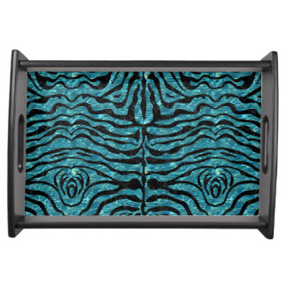 SKIN2 BLACK MARBLE & BLUE-GREEN WATER (R) SERVING TRAY