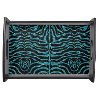 SKIN2 BLACK MARBLE & BLUE-GREEN WATER SERVING TRAY
