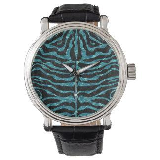 SKIN2 BLACK MARBLE & BLUE-GREEN WATER WATCH