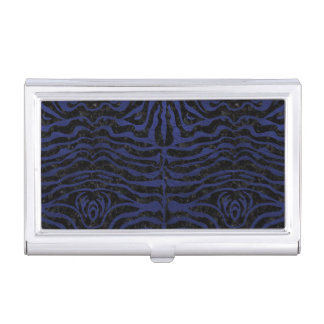 SKIN2 BLACK MARBLE & BLUE LEATHER BUSINESS CARD HOLDER