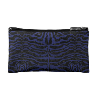 SKIN2 BLACK MARBLE & BLUE LEATHER COSMETIC BAG