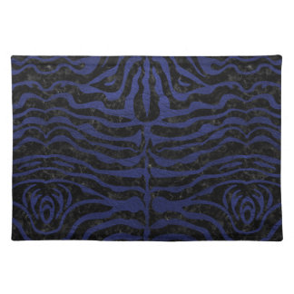 SKIN2 BLACK MARBLE & BLUE LEATHER PLACEMAT