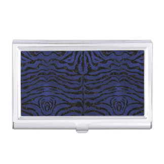 SKIN2 BLACK MARBLE & BLUE LEATHER (R) BUSINESS CARD HOLDER