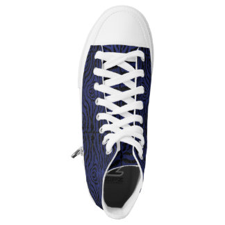 SKIN2 BLACK MARBLE & BLUE LEATHER (R) HIGH TOPS