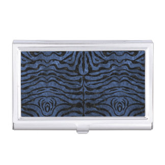 SKIN2 BLACK MARBLE & BLUE STONE (R) BUSINESS CARD HOLDER