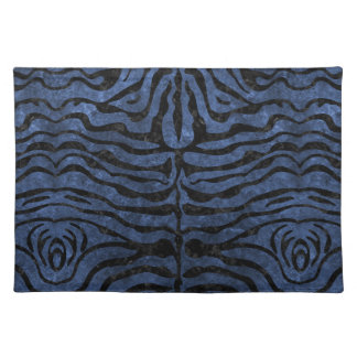 SKIN2 BLACK MARBLE & BLUE STONE (R) PLACEMAT